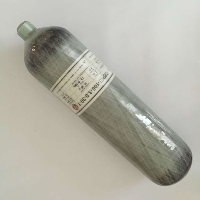 3L 4500psi 300bar High Pressure Composite Carbon Fiber Cylinder/SCBA Diving Tank/Compressed Air Cylinder Bottle -T