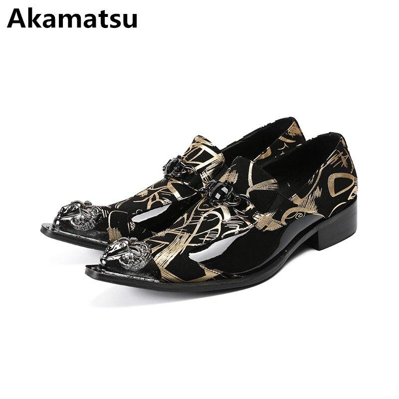 Mens shoes high heels genuine leather floral formal dress oxford shoes for men metal decor print office zapatos hombre vestir