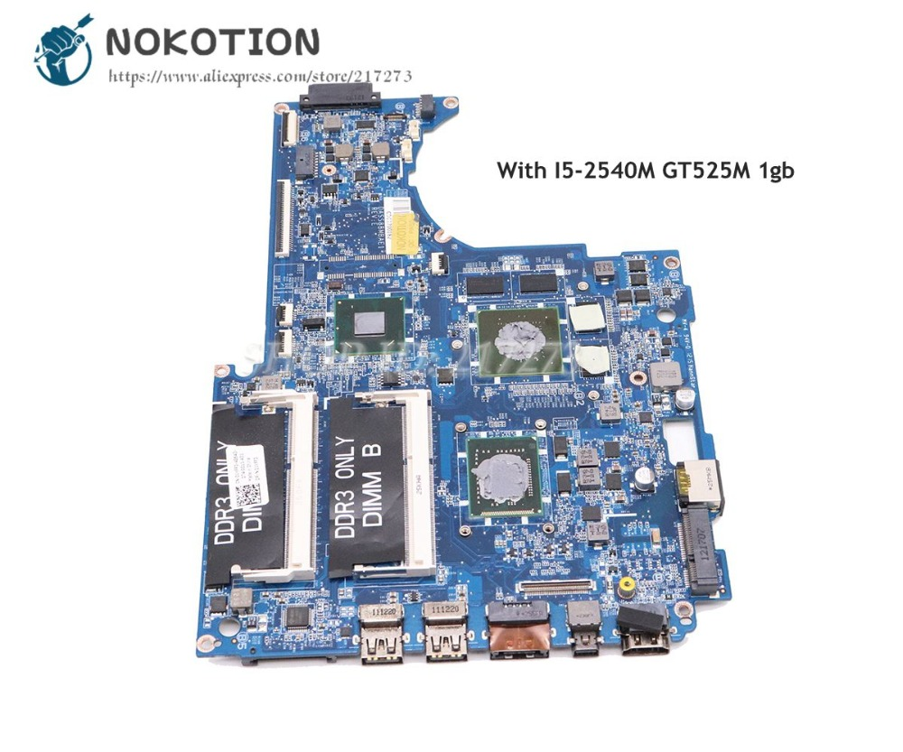 NOKOTION DASS8BMBAE1 CN-0CD50P 0CD50P Main Board For Dell XPS 15z L511z Laptop Motherboard SR06Z I5-2540M CPU GT525M 1GB original usb ethernet hdmi board for dell xps one 2710 09r92h 9r92h cn 09r92h 100