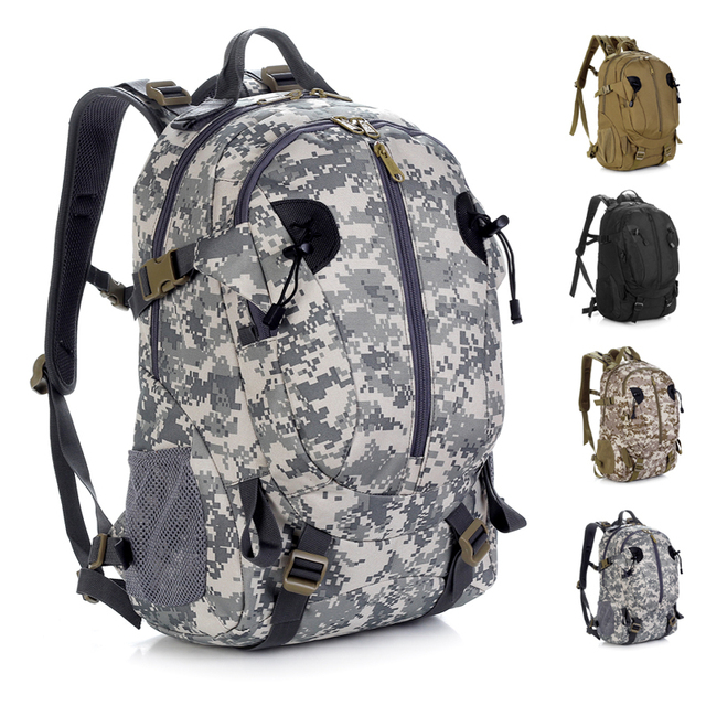 8adb4182e5d4 Male outdoor backpack Camouflage backpack female waterproof mountaineering  bag hiking travel bag tactical man bag 40l