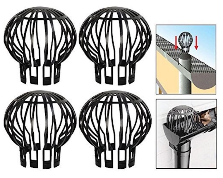 BALLOON-GUARD-FILTERS Drains Stops Downpipe Rainwater-Discharge Roof-Gutter Plastic Leaf