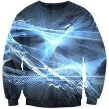 4d208fffee37d Cloudstyle 3D impresión sudaderas con capucha aurora Ray resplandor Hip hop  streetwear 3D Sudaderas hombres cuello