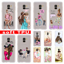 BiNFUL Baby Mom Girl Boy Fashion Clear For Samsung Galaxy A10/A30/A40/A50/A70 A9 A8 A6 a7 2018  A3 A5 2017 2016 TPU Case Cover