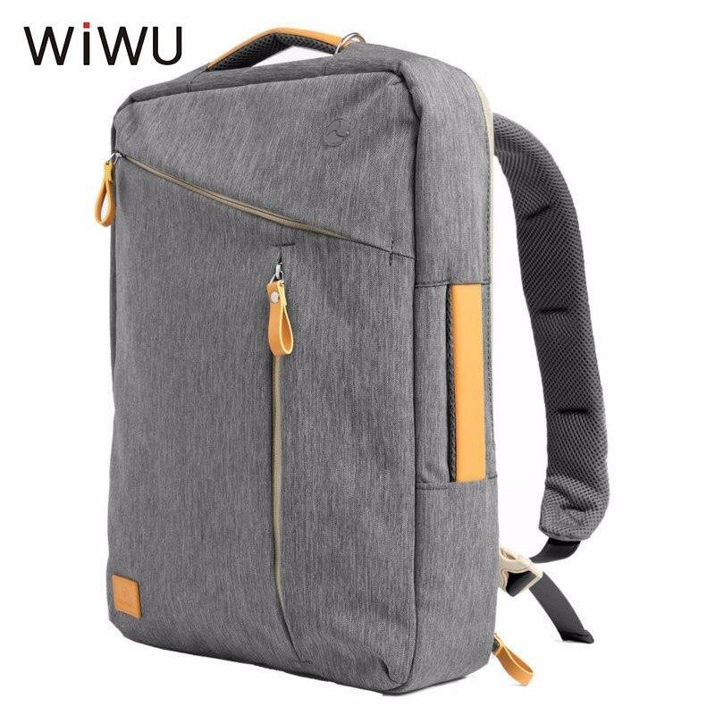 WIWU sac à dos pour ordinateur portable 15 15.4 15.6 17 17.3 hommes femmes école sac à bandoulière étanche en Nylon ordinateur portable sac à main Messenger sac