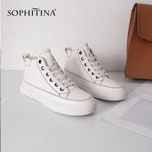 Sophitina/Стильные кеды для женщин Верх обуви выполнен из натуральной