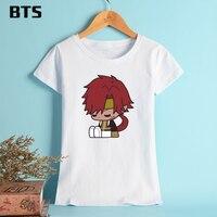 BTS Saiyuki RELOAD BLAST T-shirt Women Funny Short Famous Anime Summer Tee Shirt For Kids Soft Pure Cotton T Shirts XL Plus Size