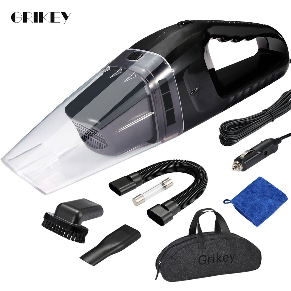 GRIKEY Car Aspirador de pó Para Carro 12V 120W Mini Portátil Aspirador de pó Portátil Carro Aspirador Aspirador de pó Automático coche