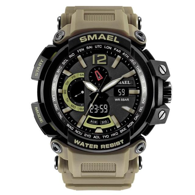 Waterproof Military Watches Genuine SMAEL Watch Men Digital LED Sports Watch S Shock Resist Army Watch1702 Big Sport Watches Man