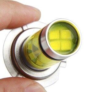 Image 2 - 1 قطعة H7 LED لمبة السوبر مشرق 20SMD 3030 أضواء الضباب للسيارة 12 فولت 24 فولت 3000 كيلو 6000 كيلو القيادة يوم مصباح السيارات تشغيل لمبة Led H7