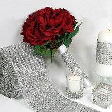 0,9 м, серебристый с кристаллами, Алмазная сетка, обёрточная бумага, стразы для торта, лента, декор для свадьбы, свадебная обертка для букета, сумки для одежды, поделки своими руками
