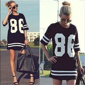 68ff015b546e7 Camisetas de mujeres deporte rayas número Pirnted béisbol camisetas para  mujer manga corta T-Shirt