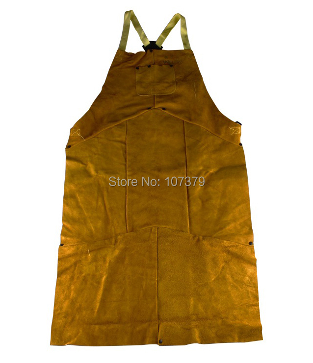 Leather Welding Aprons 107cm staphyloccus cowhide fire flame retardant clothing welder aprons leather welding aprons wear insulated