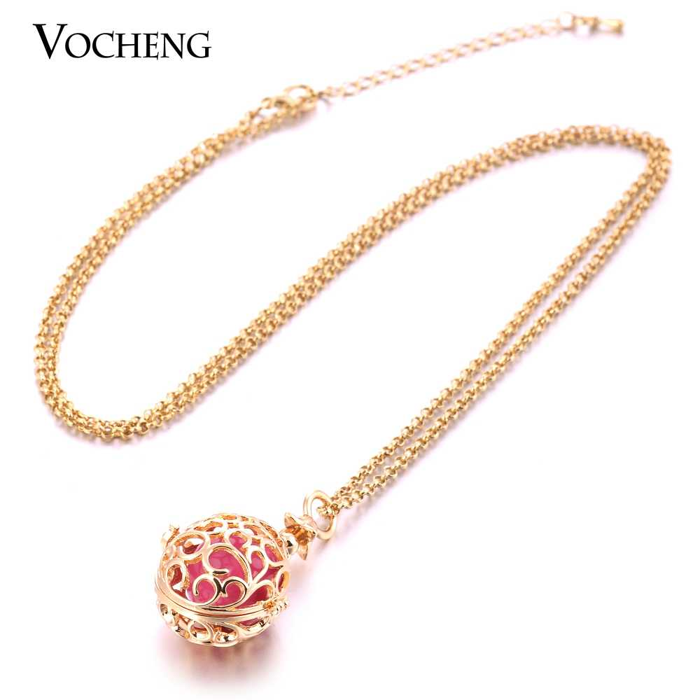 10 ชิ้น/ล็อต Vocheng Bola Ball สร้อยคอ 3 สีทองแดงโลหะ Hollow out จี้เครื่องประดับสแตนเลสโซ่ VA-235 * * * * * * * 10