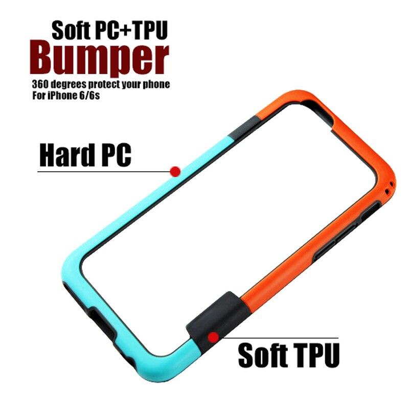 Parachoques para iPhone 6 6s 7 8 plus X Soft TPU Frame Case Cover - Accesorios y repuestos para celulares - foto 5