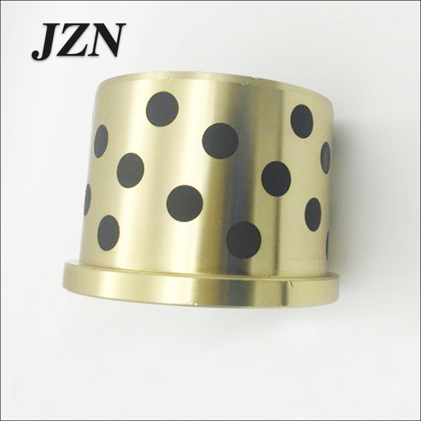 Ochoos JFB4540 45x55x40mm JFB 500SP flanged Bronze impregnated Graphite oilless Bush Flange Solid self Lubricant Embedded Bearing