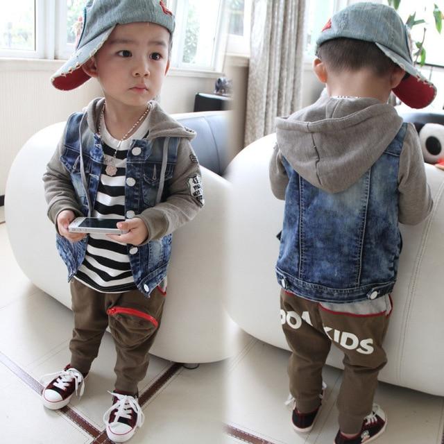 8eeacf53e 2018 new fashion baby boy clothes boys autumn winter coat baby boy jean  jacket cotton long jacket wash splicing cowboy clothing