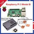 2016 chegada nova Original UK Made Raspberry Pi 3 modelo B Kit com caso + ventilador de refrigeração dissipadores