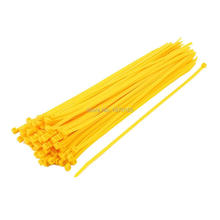 5mm x 300mm Self Locking Nylon Cable Ties Heavy Industrial Wire Zip Ties Yellow 100pcs 100pcs white self locking cable tie high quality nylon fasten zip wire wrap strap 2 5x100mm 2 5x150mm plastic