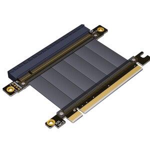 Image 2 - PCI E X16 כדי 16X 3.0 זכר לנקבה Riser כבל מאריך כרטיס מסך מחשב PC Chasis PCI Express Extender סרט 128G/Bps