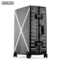 UNIWALKER ABS+PC Cross Twill Rolling Luggage 20242629 Hardside Trolley Travel Traveling Suitcase Aluminum Frame Carry On