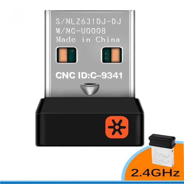 2.4 GHz Không Dây Dongle Adapter Đầu Nhận Nano Dongle Cho Logitech 6 Kênh 6MM Cho Cho MX M905 M950 m505 M510 V. V.