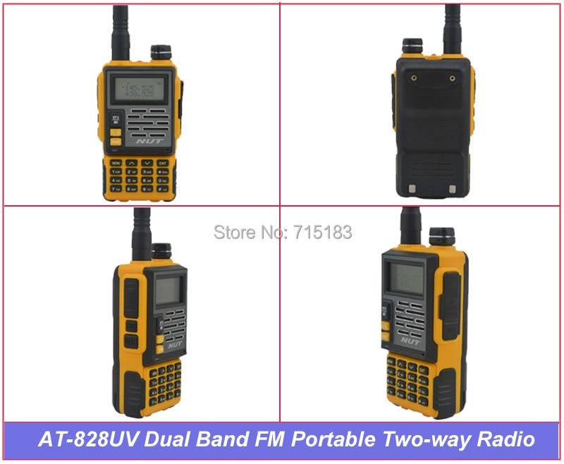 Ecrou AT-828UV 400-480 MHz & 136-174 MHz double bande 6 W 128CH Radio bidirectionnelle PortableEcrou AT-828UV 400-480 MHz & 136-174 MHz double bande 6 W 128CH Radio bidirectionnelle Portable
