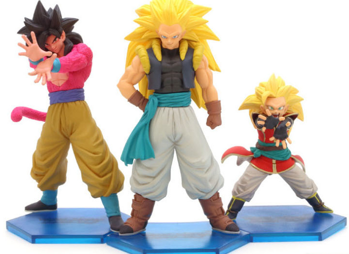 NEW hot ! 3pcs/set 9-13cm dragonball dragon ball Super Saiyan Son Goku Kakarotto action figure toys Christmas doll toy new hot 21cm dragon ball super saiyan 3 son goku kakarotto action figure toys doll collection christmas gift with box sy889