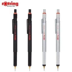 Rotring 800 + lápiz mecánico de metal 0,5/0,7mm negro/plata multifunción bolígrafo condensador, lápiz de dibujo
