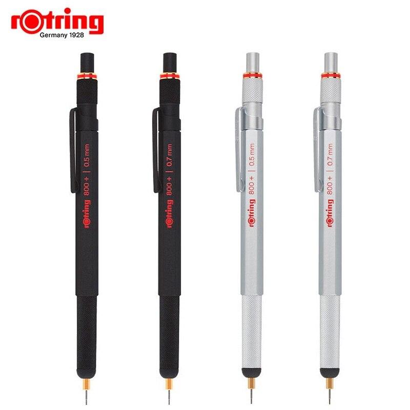 Rotring 800 + lápiz mecánico de metal 0,5/0,7mm negro/plata multifunción bolígrafo condensador, lápiz de dibujo-in Lápices mecánicos from Suministros de oficina y escuela    1