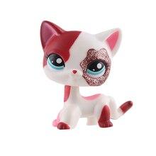 Настоящий lps littlest pet shop hasber игрушки собака короткошерстная Розовая кошка овчарка такса большой датчанин Черный Белый