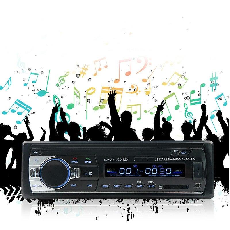 APRICOTCAR-31 Voiture radio mp3FM lecteur soutien Bluetooth mains libres téléphone FM sans perte musique radio de voiture audio de voiture CD machine