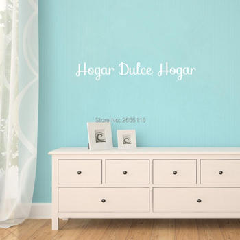 Spanish Quotes Decors Hogar Dulce Hogar Vinyl Wall Stickers Decals for Living Room image