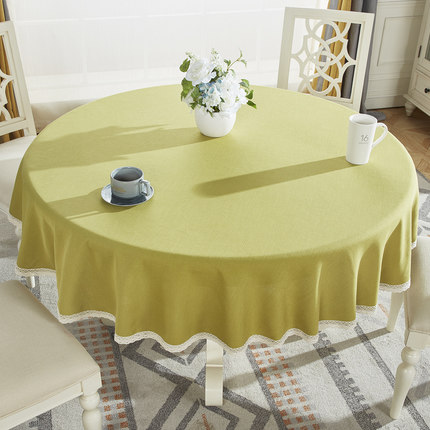 Round Tablecloth, Cotton And Linen Household Thickening European Pastoral Round Table Cloth, Coffee Table Cloth