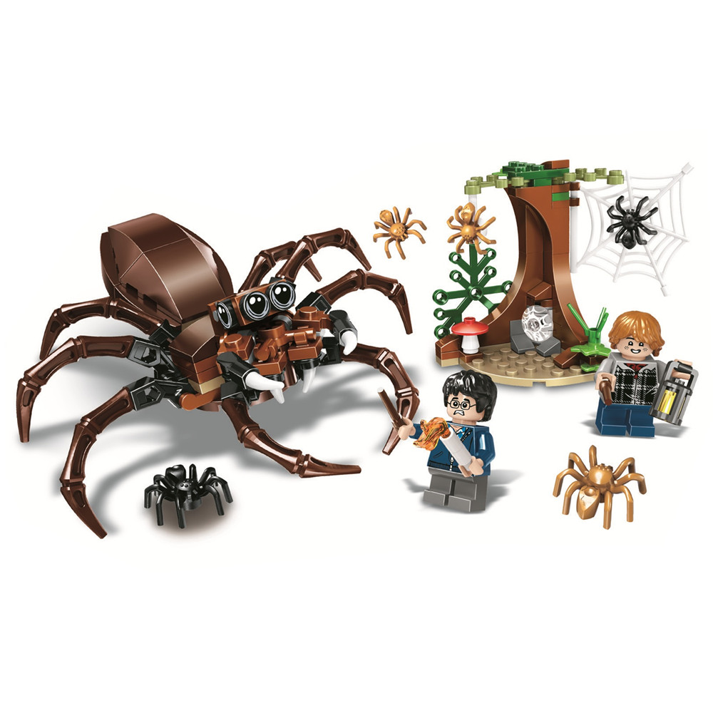 Chamber of Secrets Aragog's Lair Harry Building Blocks Kit Brick Sets Classic Movie Potter Model Kids Toys Gift Compatible Legoe 890pcs new ninja lair invasion diy 10278 model building kit blocks children teenager toys brick movie games compatible with lego