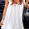 PUYO White Pregnancy Camis Tank Tops for Pregnant Woman Maternity Causal Long Camis Dress Clothes LM20