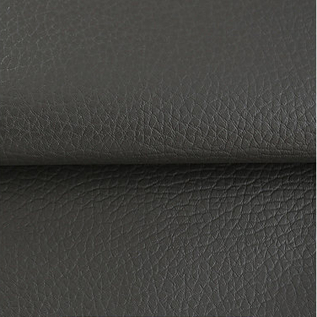 Half Meter 1pcs Dark Grey Artificial Pu Leather Litchi Texture Car Decoration Sofa Diy Bag Material Fabric Cloth