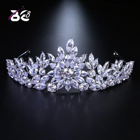 Новое поступление свадебная тиара и корона be 8 с цветочным