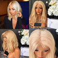 Top 8A Brazilian Blonde Human Hair Full Lace Wig #613 Blonde Lace Front Wig Human Hair 150 Density Human Hair Full Lace Wigs 613