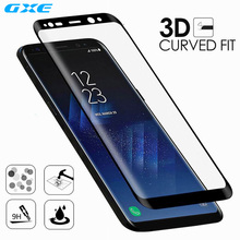GXE 3D Curved Full Cover Tempered Film Glass Protector For Samsung Galaxy S8+ S8 Plus Screen Protective Film For Galaxy S7 edge