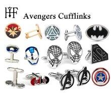 Запонки «мстители», «Капитан Америка», «Человек-паук», «Тор», «молоток», «Железный человек», «супергерой», «Бэтмен», «капитан Марвел», 23 стиля