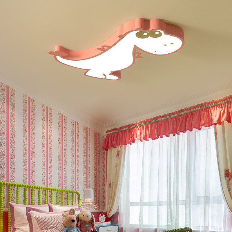 Image 4 - Cartoon Bedroom Kids Room Lights Ceiling For Girl Boy Animal Dinosaur Child Princess Baby Childrens Room Ceiling Lamp Lighting-in Ceiling Lights from Lights & Lighting