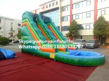 Factory direct inflatable castle slides large obstacles Animal  slide castle combination Jungle Pool Slide KY-708