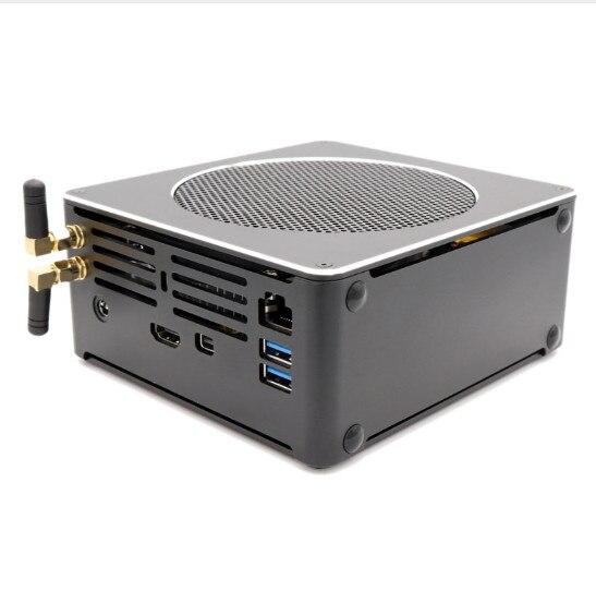 Игровой ПК Intel i7 9850 H/9300 H/i7 8750H 6 ядер 12 потоков 12M кэш Мини ПК 2 * M.2 2 * DDR4 2666MHz 32GB Win10 Pro 4K HDMI mini DP