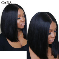 Short Bob Wig Brazilian Remy Hair Bob Lace Front Human Hair Wigs 360 Lace Frontal Wig Pre Plucked With Baby Hair CARA