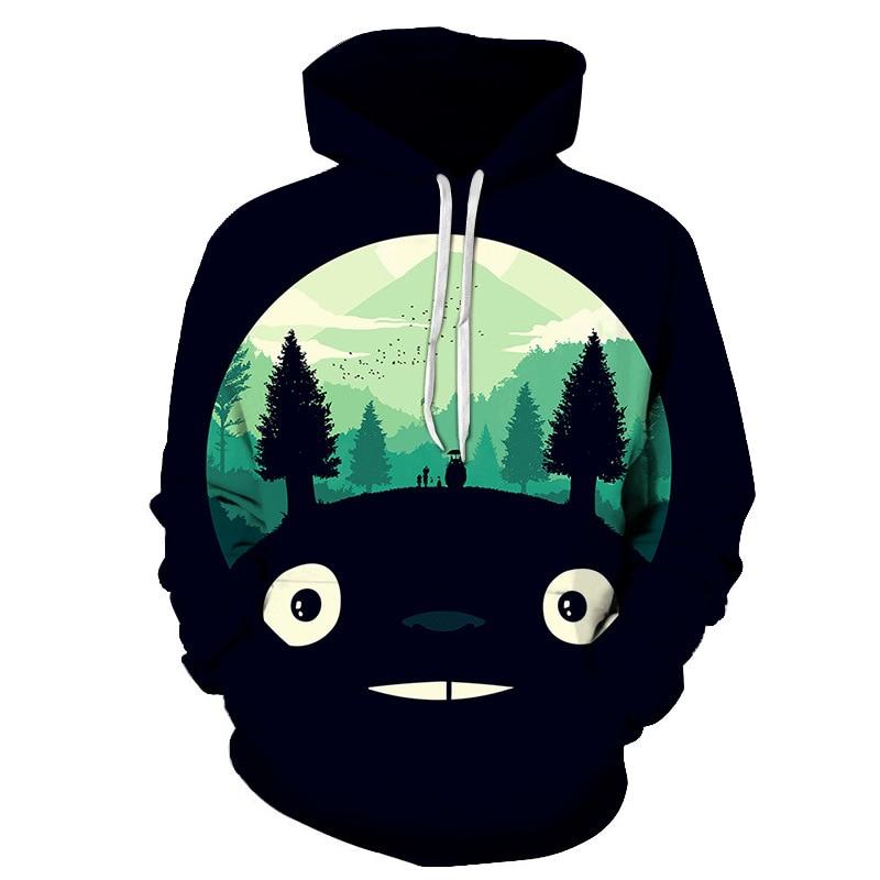 2018 New Anime Hoodies 3D Totoro Printed Hoodies Men Women Sweatshirts Fashion Pullover Casual Tracksuits Brand Drop Ship S-6XL