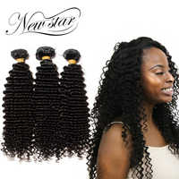 NEW STAR Deep Curl 3 Pieces 10'' 34'' Inches Virgin Human Hair Extension Brazilian Unprocessed Bundles Cuticle Aligned Weave