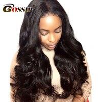 Gossip Glueless Lace Front Human Hair Wigs For Black Women Brazilian Body Wave Non Remy Wigs