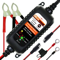 MOTOPOWER 12V 800mA Automatic Smart Battery Charger Maintainer for Car, Motorcycle, RV, ATV, Boat