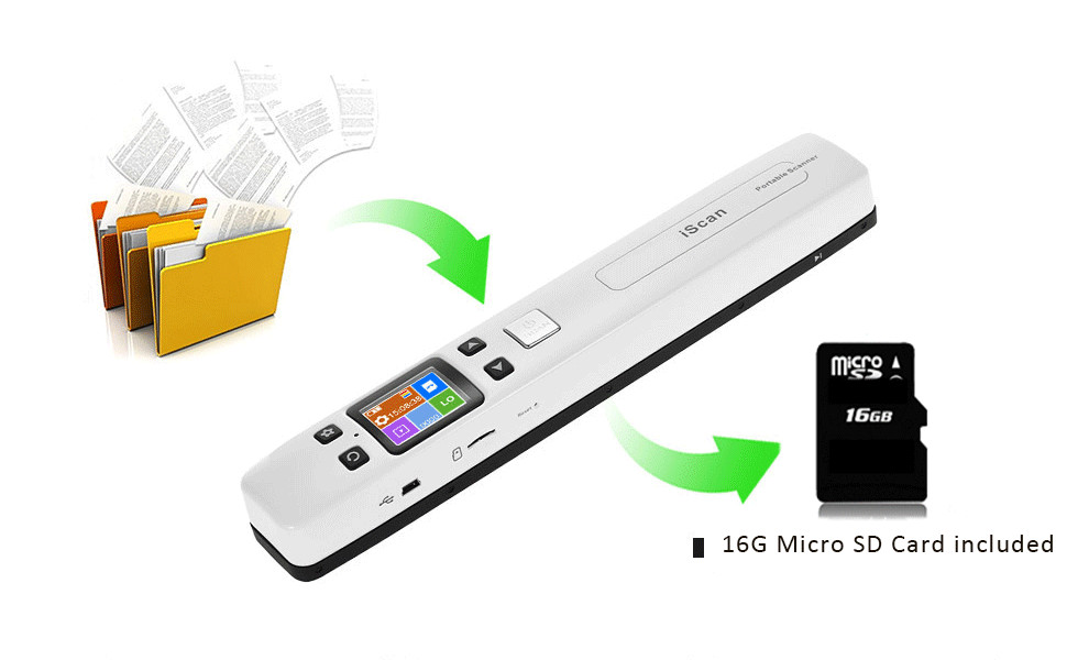 IssyzonePOS Portable Document Scanner Mini Handheld A4 Image JPG PDF Mobile Scanner WIFI with Micro SD TF Card for Book Scanning 7
