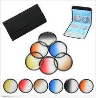 72mm 6 pz Laureato Grigio + blu + verde + viola + giallo + rosso Colore ND Neutral Density caso Kit filtro Per canon 18-200 nikon